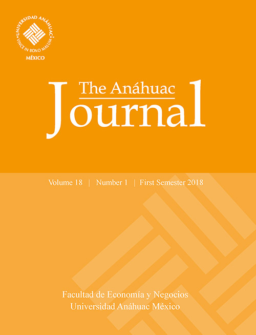 The Anáhuac Journal Vol 18 No 1 First Semester 2018