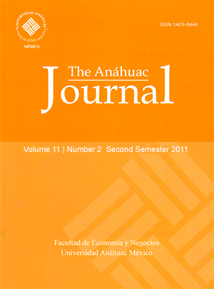 The Anáhuac Journal Vol 11 No 2 Second Semester 2011